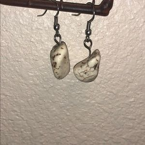 Navajo White buffalo earrings